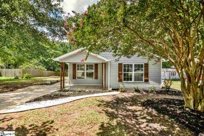 Fountain Inn Single Family Home Contingency Contract: 110 Shaw