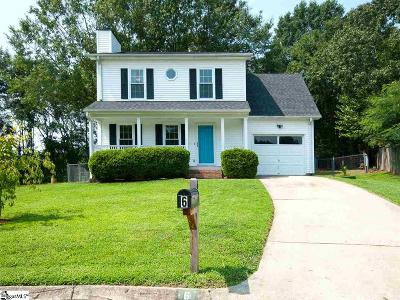 Taylors Single Family Home For Sale: 6 Richden