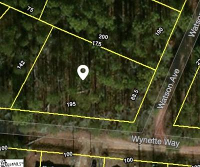 Boiling Springs Residential Lots & Land For Sale: 166 Watson