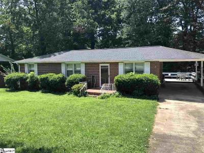 Greenville SC Single Family Home For Sale: $134,900