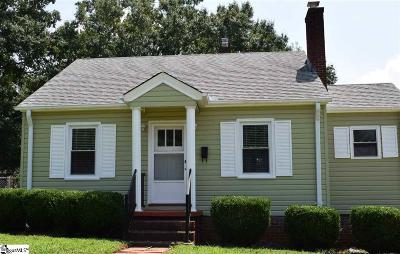Greenville SC Single Family Home For Sale: $137,000