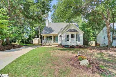 Simpsonville Single Family Home Contingency Contract: 8 Fieldcrest