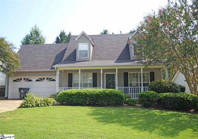 Simpsonville Single Family Home Contingency Contract: 103 Clear Lake