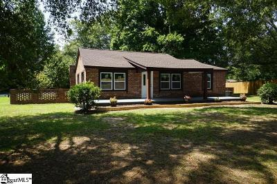 Pelzer Single Family Home For Sale: 9598 Augusta