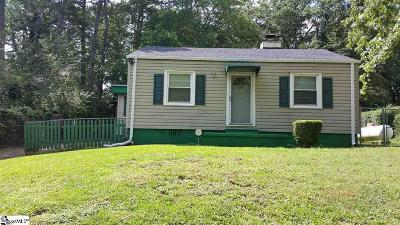 Greenville Single Family Home Contingency Contract: 24 Foxhall