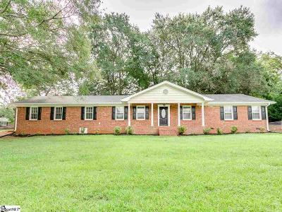 Greer Single Family Home For Sale: 100 Montclair