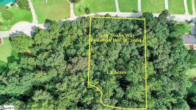 Fountain Inn Residential Lots & Land For Sale: 109 Noahs