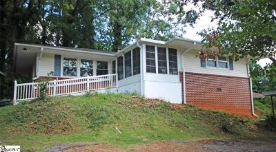 Greer Single Family Home For Sale: 604 Memorial Drive