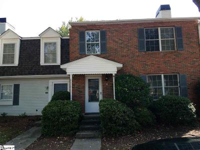 Greenville County Condo/Townhouse For Sale: 113 Shadytree