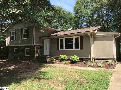 Simpsonville Single Family Home Contingency Contract: 127 Ashdown