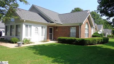 Greenville County Condo/Townhouse For Sale: 701 Heritage Club