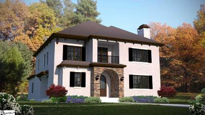 Greenville Single Family Home For Sale: 117 Butler #Lot 1