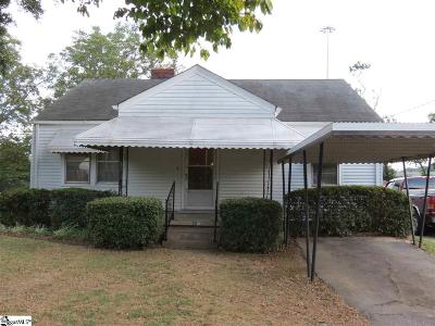 Greenville SC Single Family Home For Sale: $104,900