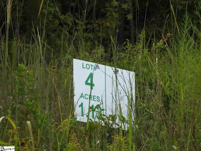 Laurens Residential Lots & Land Contingency Contract: 1490 Ft Lindley