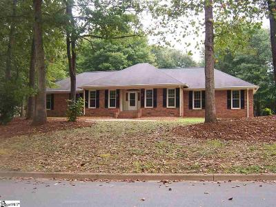 Spartanburg Single Family Home Contingency Contract: 235 Bent Oak