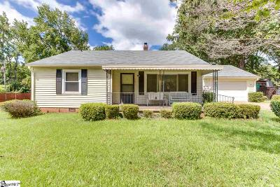 Greenville SC Single Family Home For Sale: $205,000
