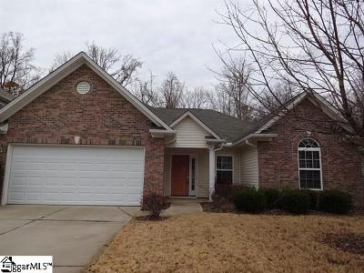 Simpsonville Rental For Rent: 16 Slow Creek
