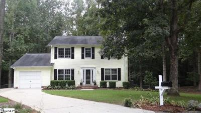 Simpsonville Single Family Home For Sale: 212 Fredericksburg