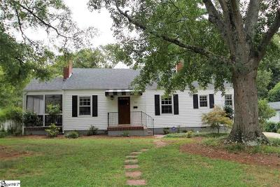 Spartanburg Single Family Home Contingency Contract: 133 Ponce De Leon