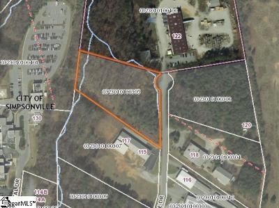 Simpsonville Residential Lots & Land For Sale: Npa Pride