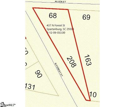 Spartanburg Residential Lots & Land For Sale: 437 N Forest