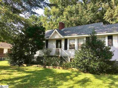 Greenville SC Single Family Home For Sale: $40,000