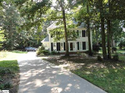 Easley Single Family Home For Sale: 109 Meadow Woods
