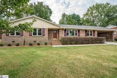 Greenville SC Single Family Home For Sale: $289,000