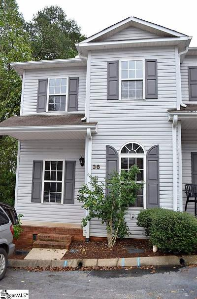 Greenville County Condo/Townhouse For Sale: 36 Huntress