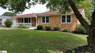 Pelzer Single Family Home For Sale: 7 Tasha