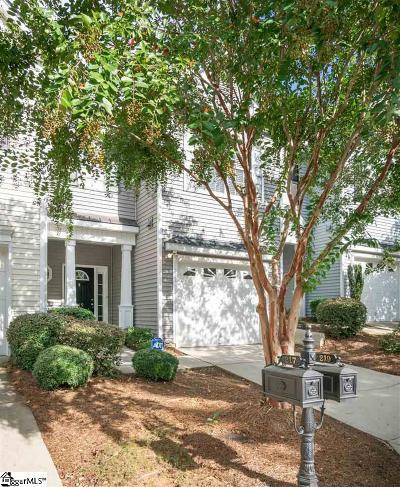 Greenville County Condo/Townhouse For Sale: 219 Cedar Crossing