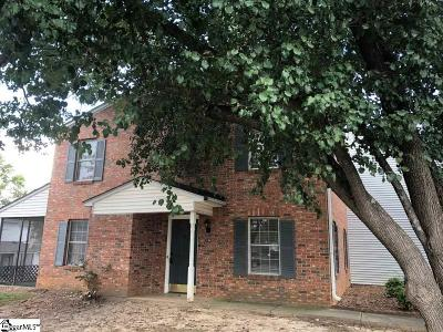 Greenville County Condo/Townhouse For Sale: 138 Shady Tree