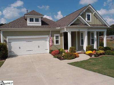 Simpsonville Single Family Home For Sale: 34 Lucerne #Lot 108
