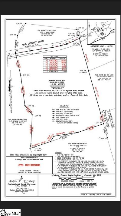 Easley Residential Lots & Land For Sale: 1185 Old Liberty