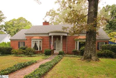 Greenville Single Family Home Contingency Contract: 1723 N Main