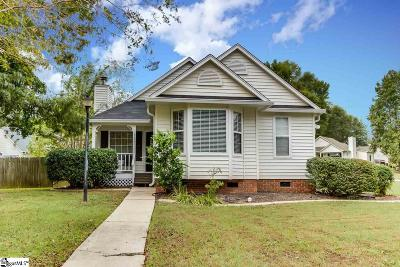 Simpsonville Single Family Home Contingency Contract: 531 Dunwoody