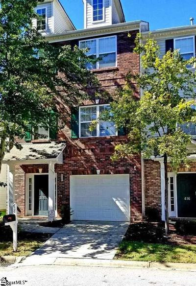 Mauldin Condo/Townhouse For Sale: 418 Woodbark