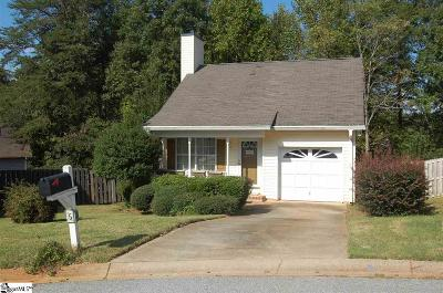 Travelers Rest Single Family Home For Sale: 5 Pecan Grove