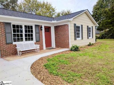Simpsonville Single Family Home Contingency Contract: 103 Lasalle
