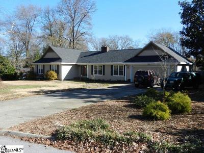 Greer Single Family Home For Sale: 302 W Hackney