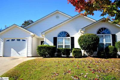 Simpsonville Single Family Home For Sale: 6 Grackle