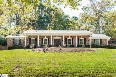 Greenville Single Family Home For Sale: 17 W Seven Oaks