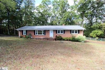 Spartanburg Single Family Home For Sale: 312 Old Canaan