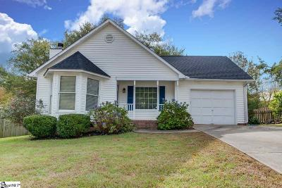 Simpsonville Single Family Home Contingency Contract: 232 Oak Valley