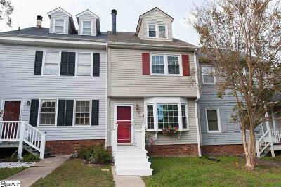 Spartanburg Condo/Townhouse For Sale: 29 Hidden Springs