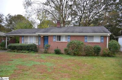 Taylors Single Family Home For Sale: 126 Forestdale