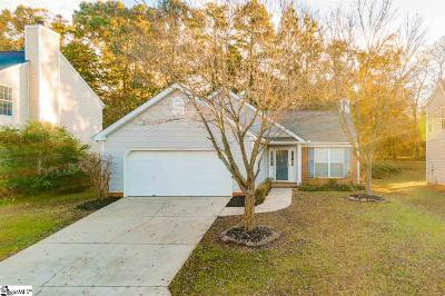 Simpsonville Single Family Home Contingency Contract: 108 Crossview