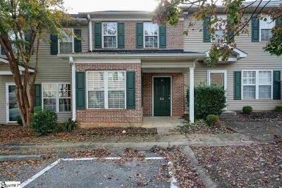 Greenville County Condo/Townhouse For Sale: 419 E Butler #Unit #33