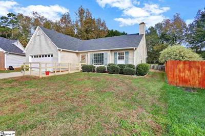 Simpsonville Single Family Home Contingency Contract: 18 Black Oak