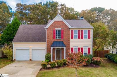 Simpsonville Single Family Home Contingency Contract: 16 Crossview
